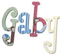 Curious George Hand Painted Wall Letters
